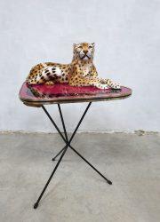 Vintage tripod expo table fifties triangle bijzettafel Erdal