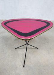 Vintage side table Erdal fifties triangel bijzettafel tripod expo table