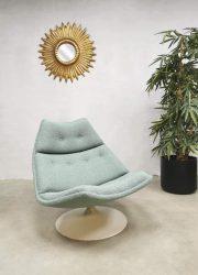 Vintage swivel chair draaifauteuil Artifort Geoffrey Harcourt F511