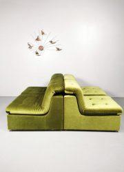 Modular modulaire lounge elementen sofa bank green velvet groen