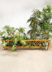 Vintage wood plant stand flower stand houten plantenstandaard XXL