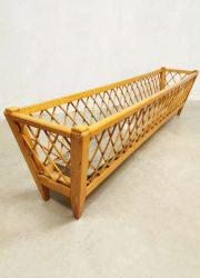 houten vintage design planten standaard plant stand sxities retro roomdivider