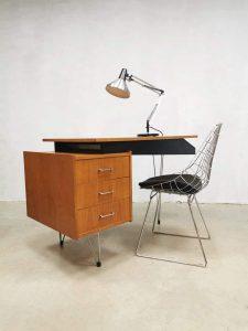 Midcentury Dutch design desk bureau Pastoe Cees Braakman hairpin leg
