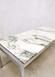 vintage marble tavertine coffee table seventies