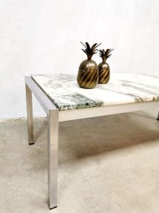 Midcentury Italian design marble coffee table marmeren salontafel