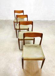 Danish design dining chairs eetkamerstoelen Moller vintage stoelen Deens