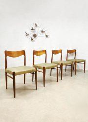 Vintage Danish design dining chairs Niels O Moller eetkamerstoelen dinner chair