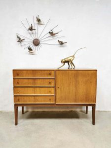 Vintage Danish sideboard cabinet Deens dressoir ladekast