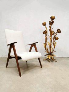 Vintage Dutch design armchair fauteuil Webe Louis van Teeffelen