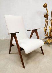 Midcentury Webe Louis van Teeffelen armchair fauteuil Dutch design