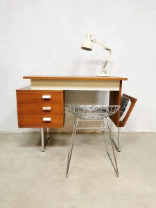 Vintage Dutch design sixties desk bureau minimalism