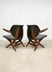 Chair lounge fauteuil arm Webe vintage Louis van Teeffelen scissor Pelican