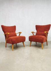 vintage lounge fauteuils jaren 60 design armchairs A.A Patijn