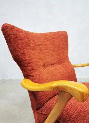 vintage armchair wingback retro Patijn dutch design stoel fauteuil