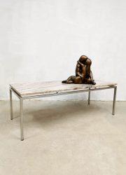 midcentury T Spectrum coffee table marble tavertine salontafel