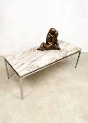 Vintage marble coffee table salontafel Gerard van den Berg Spectrum