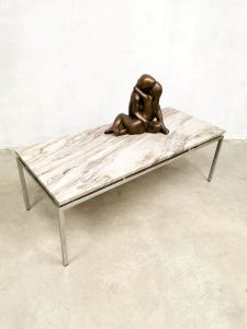 Vintage marble coffee table salontafel Gerard van den Berg Spectrum