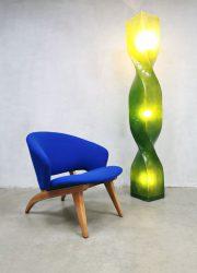 Vintage eighties design eclectic twirl floor lamp vloerlamp