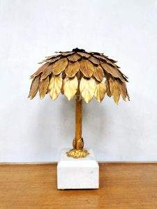 vintage marble gold table lamp hollywood regency tafel lamp