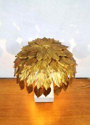 palmtree gold table lamp midcentury vintage tafel lamp