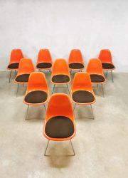 Vintage US design Herman Miller shell fiberglass chairs
