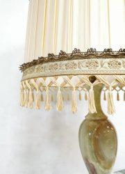 Vintage onyx marble table lamp tafel lamp Hollywood regency style