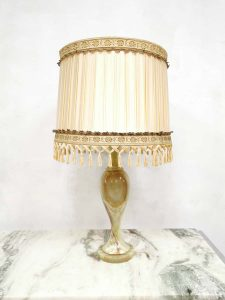 Vintage onyx marble table lamp tafel lamp Hollywood regency style