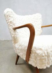 sixties cocktail chair vintage lounge stoel faux fur