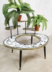 midcentury design plant stand mozaiek tiles sixties