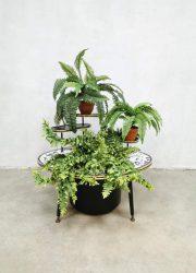 vintage planter plant stand plantenstandaard mosaic