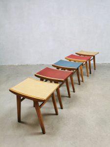 Vintage stools ottoman voetenbank retro colors fifties sixties