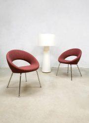 Vintage dining chairs 'Nina' eetkamerstoelen Artifort Rene Holten