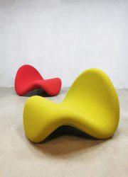 Vintage Dutch design tongue tong Artifort Pierre Paulin