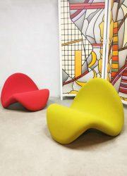 Vintage Dutch design tongue chair Pierre Paulin Artifort F577