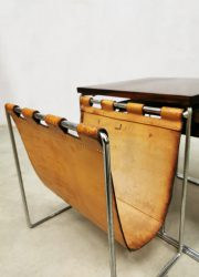 midcentury Dutch design magazine holder nesting tables retro industrial vintage
