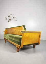 Pastoe MB01 sofa Dutch vintage Cees Braakman bank design velvet