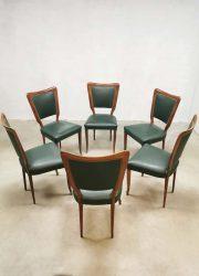 Paolo Italian Buffa design vintage dinner chair chairs stoelen Italiaans