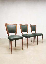 Eetkamerstoelen vintage Italiaans design Italian Buffa dining chair Paolo