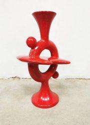 Vintage design ceramik Italian vase Italiaanse vaas keramiek 'Atomic'