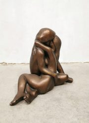 vintage sculpture beeld Arnold Bergere Leonardo beeld krijt