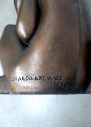 vintage design sculpture beeld statue Arnold Bergere Leonardo work inc