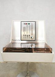 Vintage Space Age Rosita Commander Luxus 1974 stereo set platenspeler