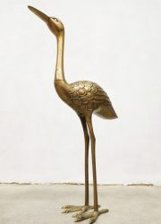 Vintage brass crane bird messing kraanvogel