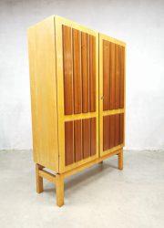 Vintage design wandkast boekenkast cabinet 'duo tone'