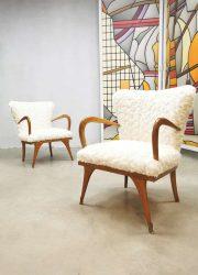 Vintage Italian design armchairs cocktail stoelen 'soft Teddy'