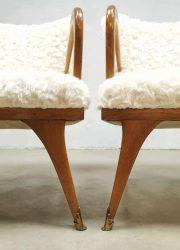 midcentury Italian design armchairs Paolo Buffa style