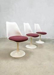 vintage Pastoe stoelen tulp tulip chairs Saarinen Knoll set 1970