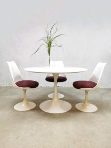 Vintage design dining table eetkamerset Pastoe Saarinen Knoll