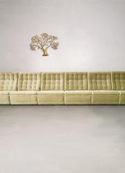 vintage modular lounge sofa modulaire sofa velours velvet design