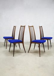 Dining chairs eetkamerstoel velvet vintage spindle back
